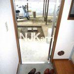 三鷹駅徒歩6分,三鷹市上連雀2丁目のバストイレ別・礼金ゼロ1K賃貸アパート(玄関の写真)