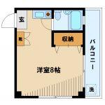 【コーポノブ】武蔵野市緑町1丁目のワンルーム賃貸マンション(間取)