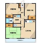 三鷹駅バス10分、武蔵野市関前4丁目の3LDK賃貸マンション(間取)