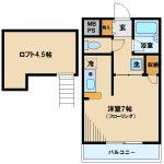三鷹駅徒歩8分、武蔵野市西久保2丁目のオートロック付きマンション(間取)