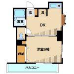 武蔵野市西久保2丁目のリノベーション1DKマンション(間取)