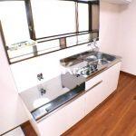 三鷹駅徒歩7分、三鷹市上連雀3丁目のバストイレ独立1DK賃貸コーポ・2階角部屋(キッチンの写真)