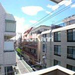 三鷹駅徒歩6分、三鷹市下連雀3丁目の3DK分譲賃貸マンション・最上階角部屋(眺望の写真)
