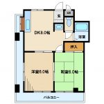 【渡辺マンション】三鷹市下連雀3丁目2Kマンション(間取)