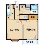 武蔵野市西久保3丁目の1LDK(間取)
