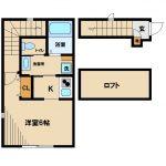 2019年完成・三鷹市下連雀2丁目のバストイレ洗面別ロフト付賃貸アパート(間取)