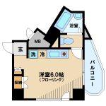 三鷹駅徒歩7分、ペット飼育可能なオートロック付き賃貸マンション(間取)