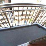三鷹駅徒歩7分,三鷹市下連雀3丁目のオートロック付き1K賃貸マンション(バルコニーの写真)