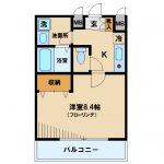 三鷹駅徒歩8分の独立洗面台とオートロック付賃貸マンション(間取)