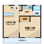 武蔵野市西久保2丁目1LDK(間取)